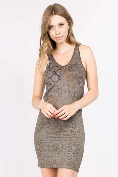 Chiara Patchwork Printed Dress