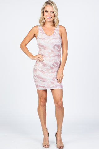 Trendy Camo Reversible Tank Dress