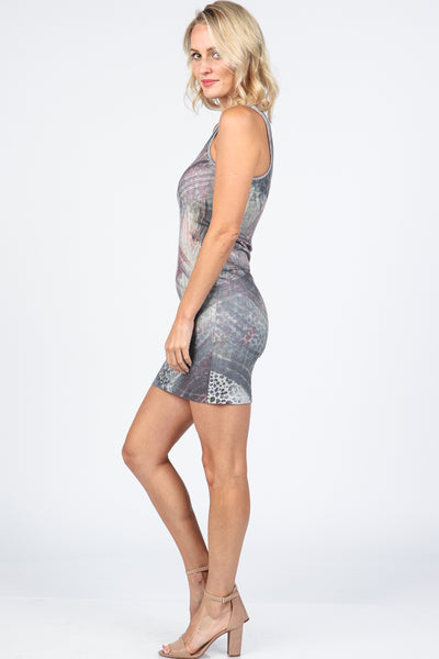 Subtle Cheetah Reversible Tank Dress
