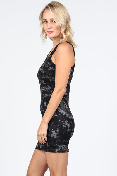 Distressed Camo Reversible Tank Dress