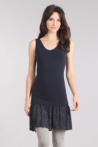 M. Rena Ink Lace Trim Reversible Tank