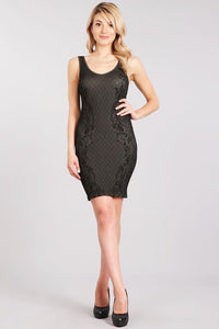 Cassidy Lace Jacquard Dress
