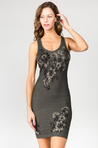 Dancing Florals Jacquard Dress