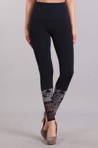 Reagan Plaid Contrast Leggings