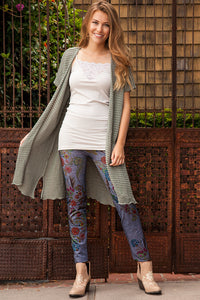Eclectic Flowers Denim Leggings