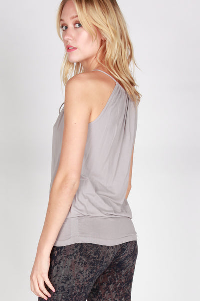 Drawstring Cami with Banded Hem