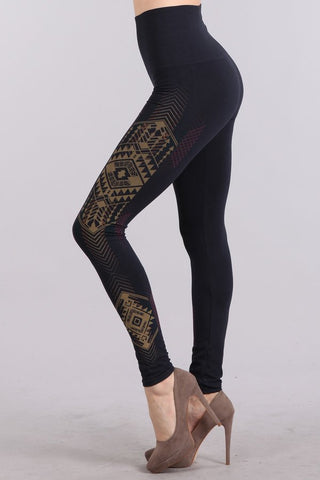 Tummy Tuck Legging with Tribal Print