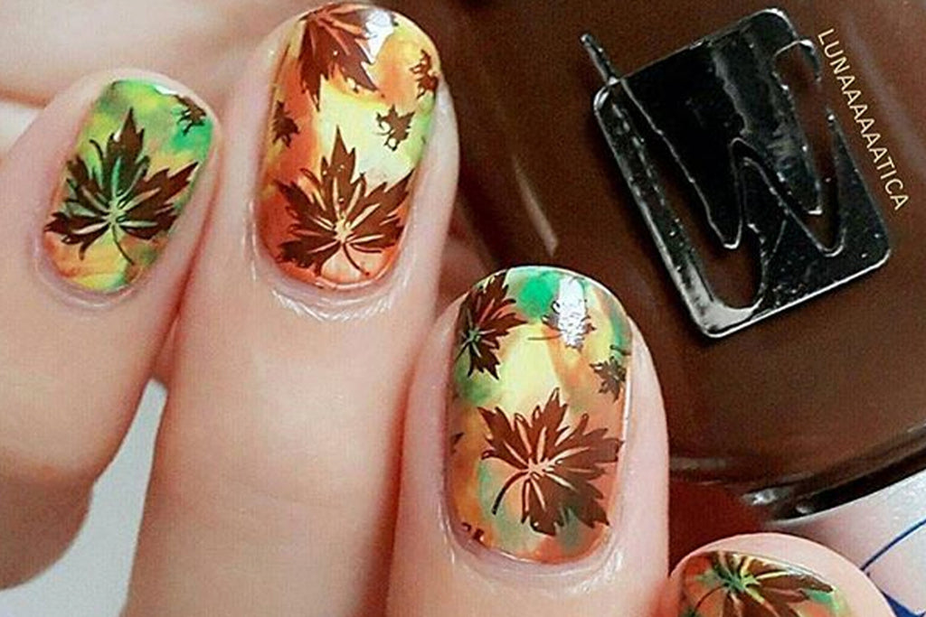 Nail Stamping Ideas: Fun & Festive Fall Nail Designs