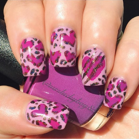 Pretty in pink heart nail designs