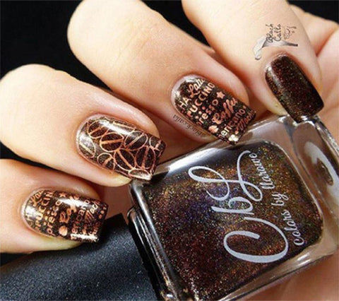 For the love of coffee Valentines nail art