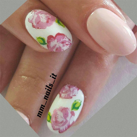 valentines nail designs with flowers - Valentines Nail