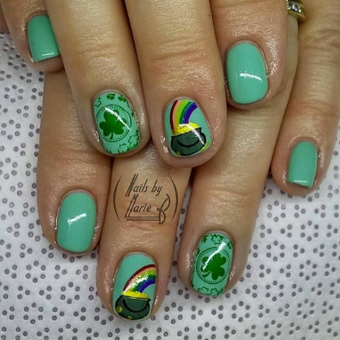 St Patricks nail designs