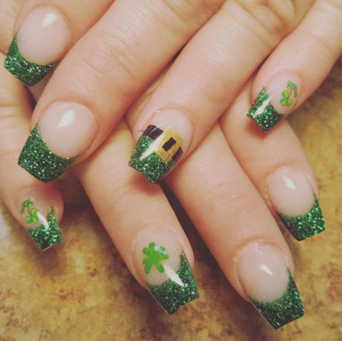St Patricks nail art designs
