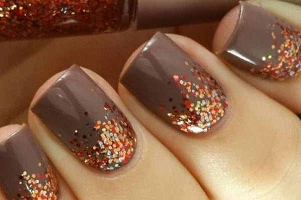 Nail Stamping Ideas Fun Festive Fall Nail Designs Clear Jelly