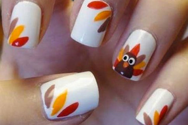 Fall Nail Art | Nail Stamping Ideas Fun Festive Fall Nail Designs Clear Jelly