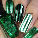 #61 - Glitzy Evergreen - Nail Stamping Color (5 Free Formula)