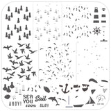 Sail Away (CjS-162) Steel Stamping Plate