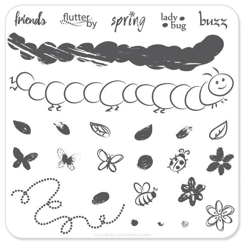 Baby Bugs and Bees (CjS-10)  - Steel Stamping Plate