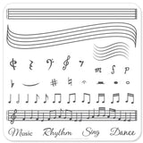 Music and Notes (CjS-11) - Steel Stamping Plate