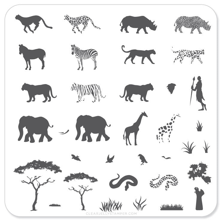 Nail Stamping Plate Out of Africa – Clear Jelly Stamper