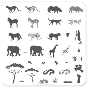 Out of Africa (CjS-15) - Steel Stamping Plate