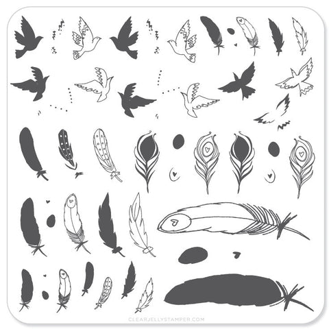 Birds of a Feather (CjS-31)  - Steel Stamping Plate