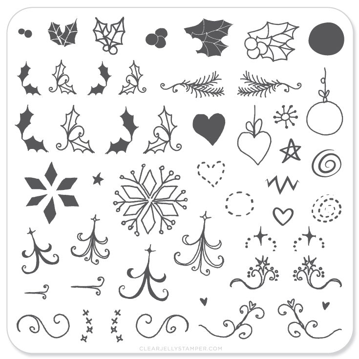 Wonderfully Winter - Steel Stamping Plate (CjSC-05) - Steel Stamping Plate