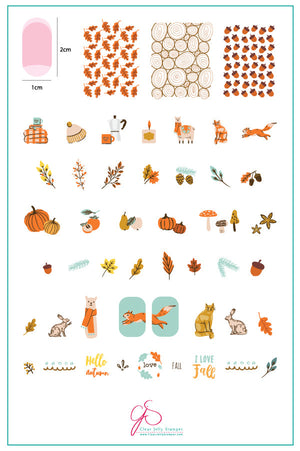 Autumn Acorns (CjS-148) Steel Stamping Plate