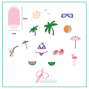 Summer Fun (CjS-16) - Steel Stamping Plate