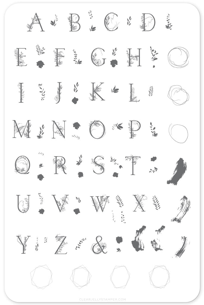 Garden Letters (CjS-83) Steel Stamping Plate