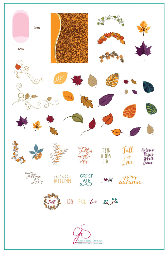 Forever Autumn (CjS-86) Steel Stamping Plate – Clear Jelly