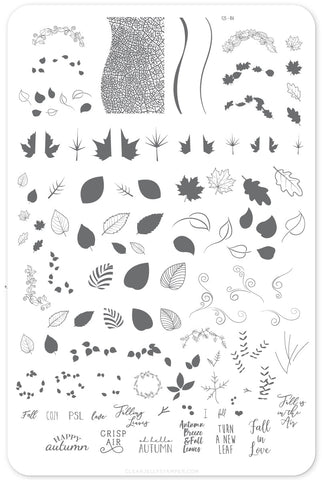 Forever Autumn (CjS-86) Steel Stamping Plate