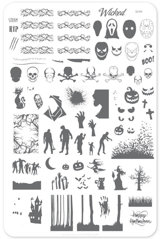 Wicked Halloween (CjS H-24) Steel Stamping Plate