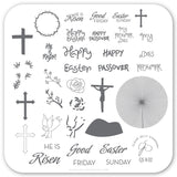 He is Risen (CjS H-32) Steel Stamping Plate