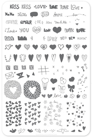 LoVe Notes (CjS V-12) Steel Stamping Plate