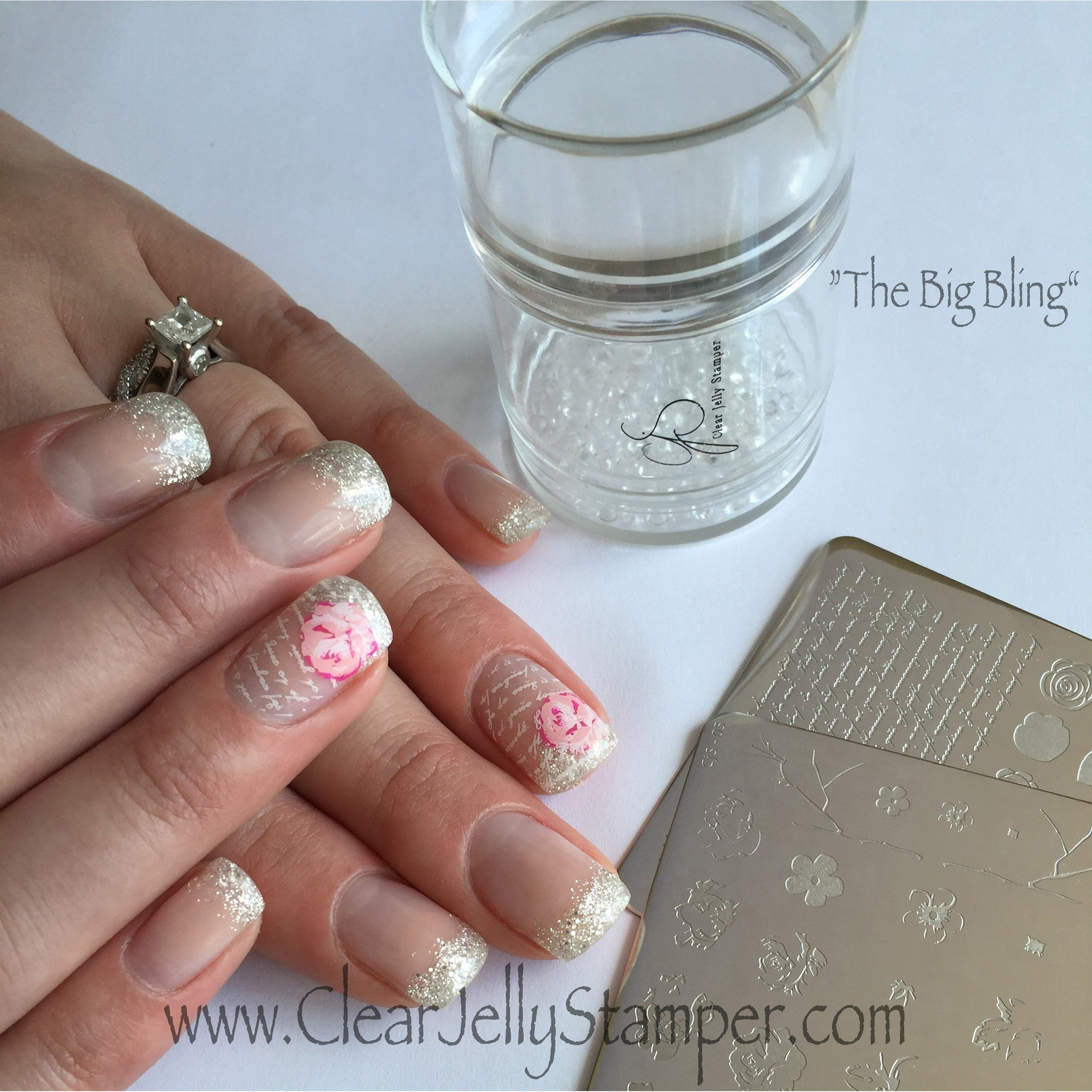 The Big Bling XL Stamper – Clear Jelly Stamper