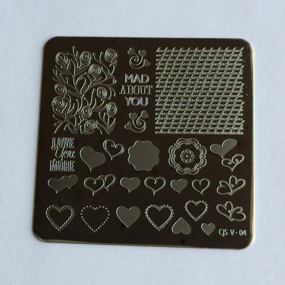 Layers of LoVe (CjS V-04) - Steel Stamping Plate