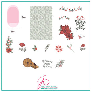 A Pretty Little Holiday (CjSC-33) Steel Stamping Plate