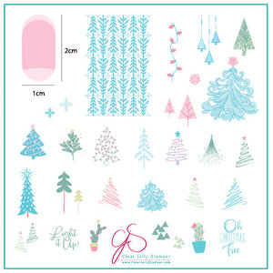 Oh Christmas Tree! (CjSC-44) Steel Stamping Plate