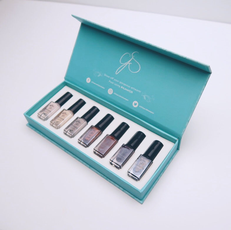 Stamping Polish Kit - Java (7 Colours)