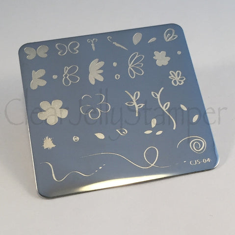 Infinite Flower (CjS-04) - Steel Stamping Plate
