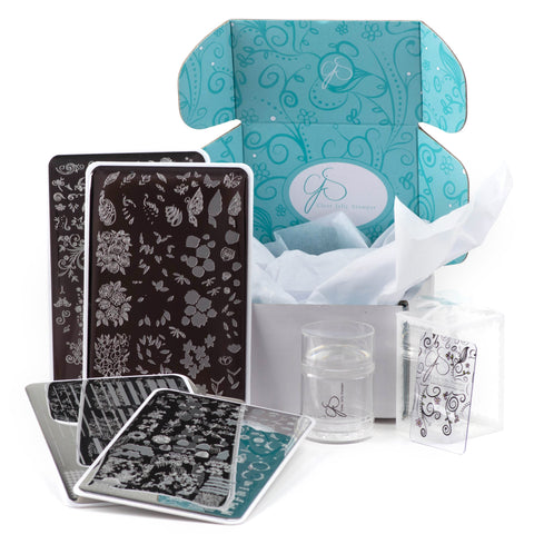 Big Bling Custom Kit - Jelly Stamper, Replacement Jelly & 4 - 14x9 Steel Stamping Plates
