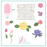 Simple Rose and Script (CjS-02) - Steel Stamping Plate