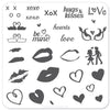 Luscious Lips and Love (CjS V-01) - Steel Stamping Plate