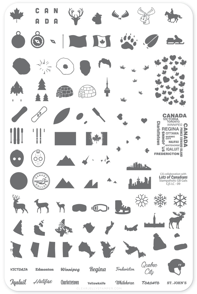 Oh Canada (CjSLC-09) - Steel Stamping Plate
