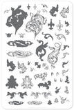 Ornamental Flourish (CjS-45) Steel Stamping Plate