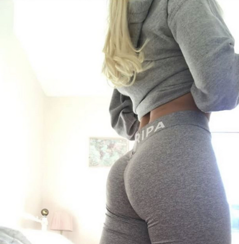 Squat proof leggings with bum scrunch enhancing appeal
