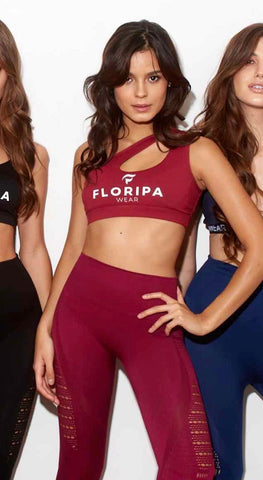 Burgundy high waisted gym leggings