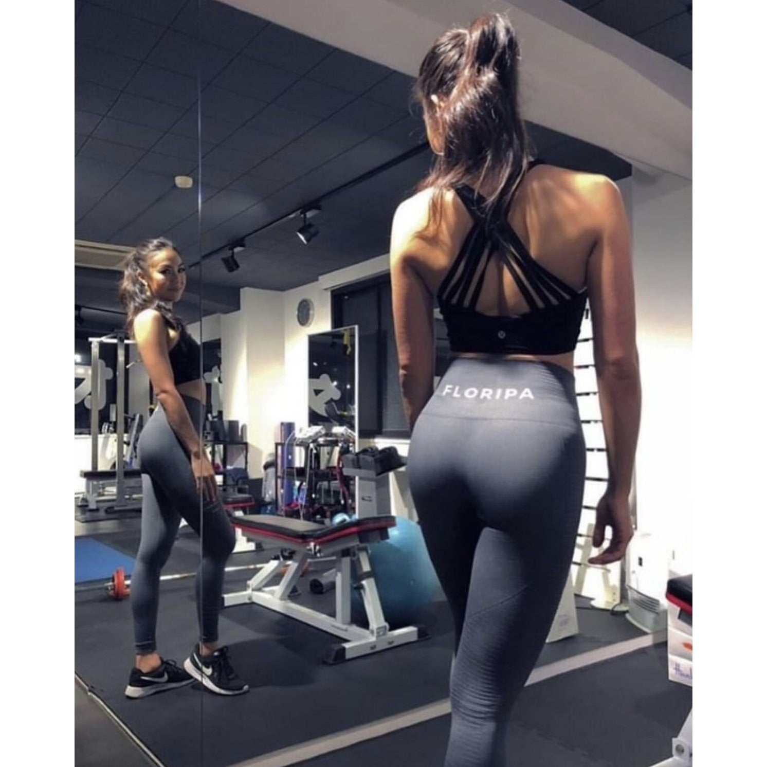 Grey High Waisted Gym Leggings - floripawear