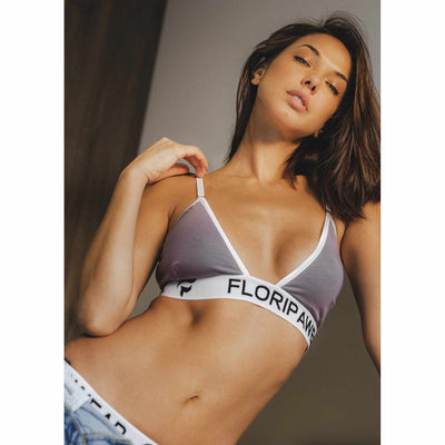 Ethical underwear UK | Floripa Sunset Mauve Bra Thong Set-womens sports underwear-Floripawear